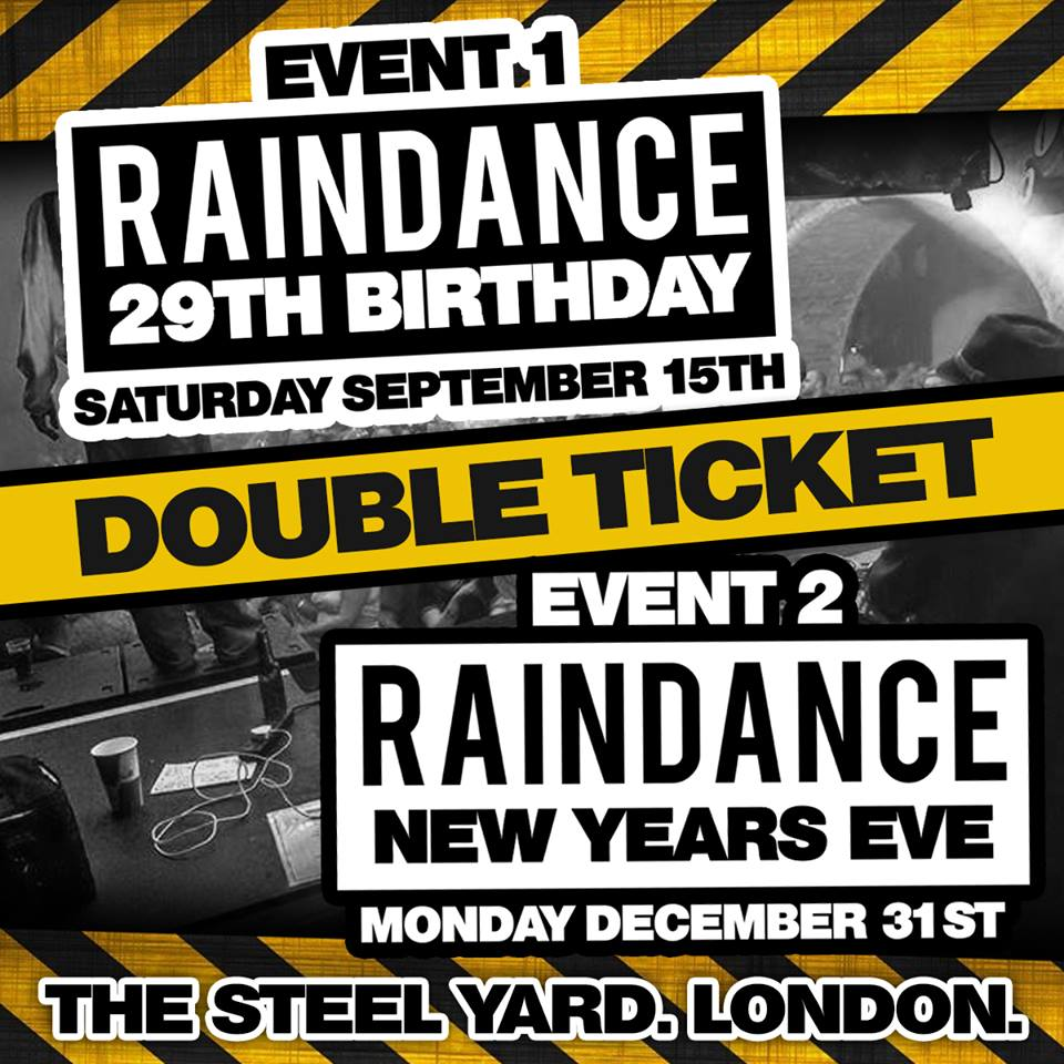 Raindance 29th Birthday & NYE 2018